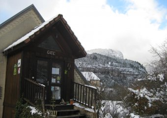gite in winter