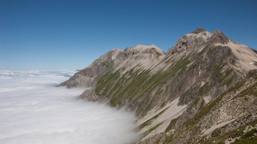 mer de nuages sur le triève
