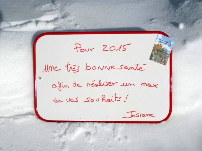 Wishes 2015 on the background of snow of Dévoluy